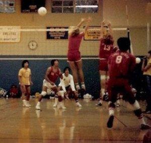 Fredrick #8 on LBCC team 1977