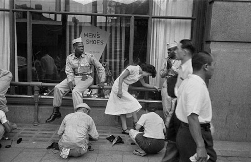 Ginza 1951 - Men's Shoes - Werner Bischof