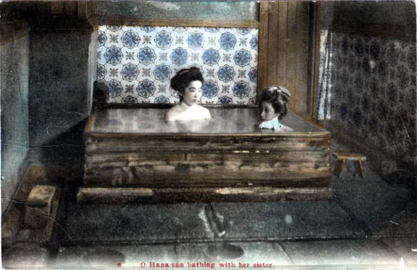 Hana-san and sister, 1910